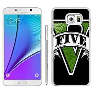 Unique Samsung Galaxy Note 5 Case ,Fashionable And Durable Designed Case With gta grand theft auto 5 font game White Samsung Galaxy Note 5 Phone Case
