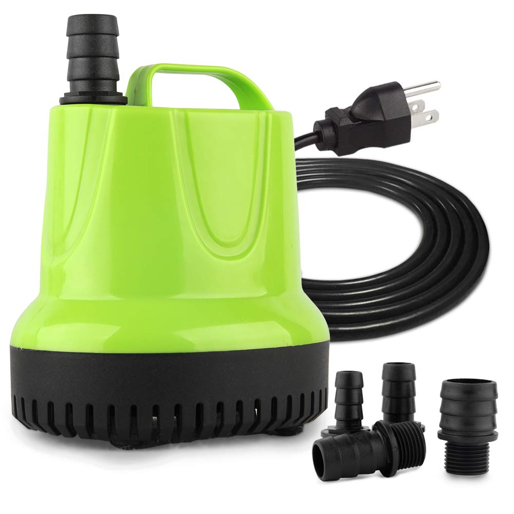 FREESEA 660GPH 40W Submersible Pump with Bottom Suction Strainer for Aquarium, Small Pool, Statuary, Pond, Hydroponics by FREESEA