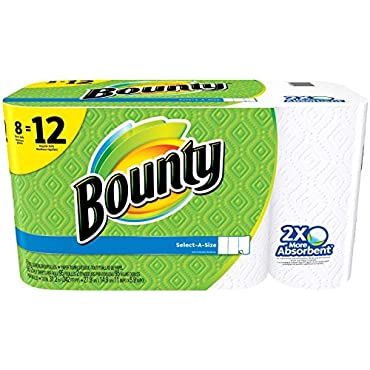 Bounty Select-A-Size Paper Towels, Giant Roll, 8 Pack