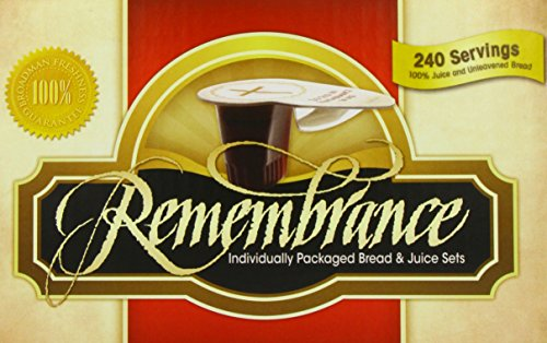Remembrance Individually Packaged Bread & Juice Sets, 240...
