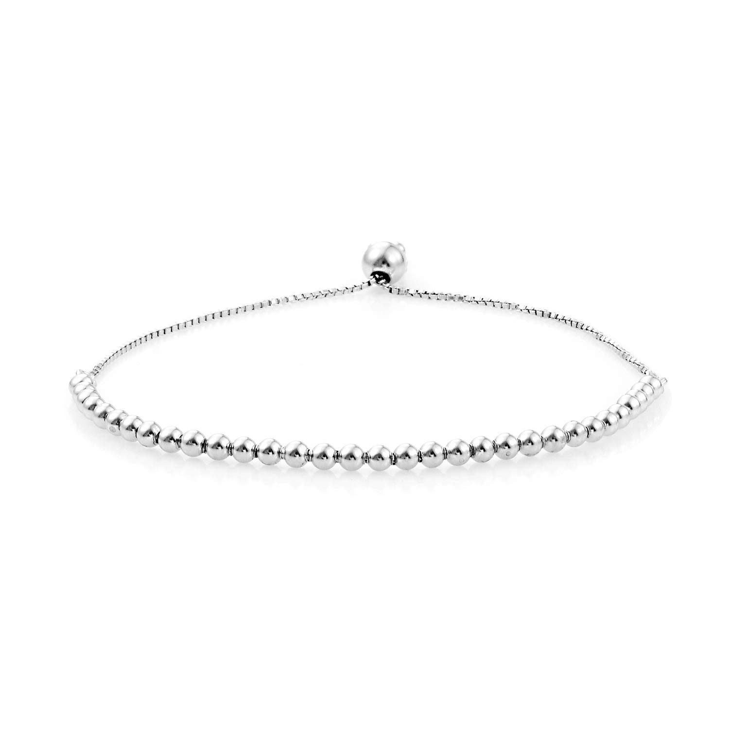 925 Sterling Silver Rhodium Plated Bolo Cuff Bangle Bracelet for Women Adjustable Jewelry 4 g by Shop LC Delivering Joy