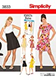 Simplicity Sewing Pattern 3833 - Miss & Miss Petite Dresses Sizes: R5 (14-16-18-20-22)