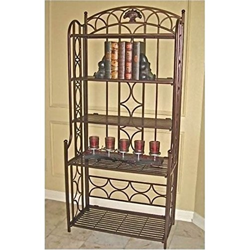 Bowery Hill Iron Baker's Rack in Bronze by Bowery Hill