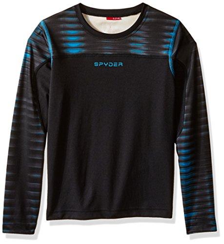 Spyder Boys Havoc Long Sleeve Tech Tee, XX-Small, Black/Space/Electric Blue Print