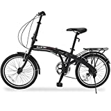 GTM 20' 6 Speed Foldable Bicycle Folding Bike Shimano Hybrid