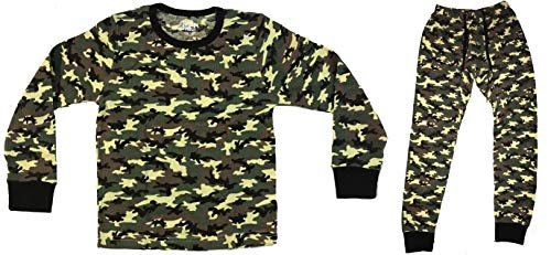 (At The Buzzer Thermal Underwear Set for Boys 95366-GRN-8 Green - Camouflage)