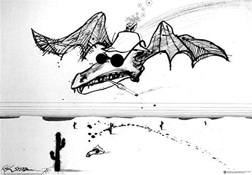 Beyond The Wall Ralph Steadman Spirit of Gonzo Hunter S. Thompson Decorative Cartoon Art Poster Print (24x36 UNFRAMED Poster)