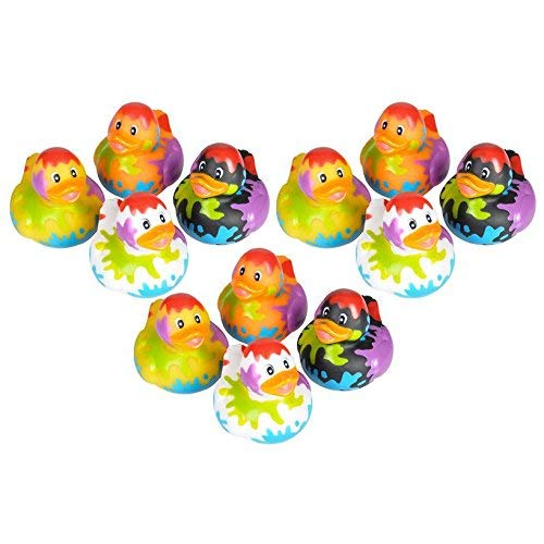 Artist Paint Party Rubber Ducks - 12 ct by Rubber Ducky   B01CGSVMBE