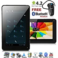 inDigi® 2-in-1 Tablet PC + Unlocked Phone 7 Touch Screen Android 4.2 Bluetooth