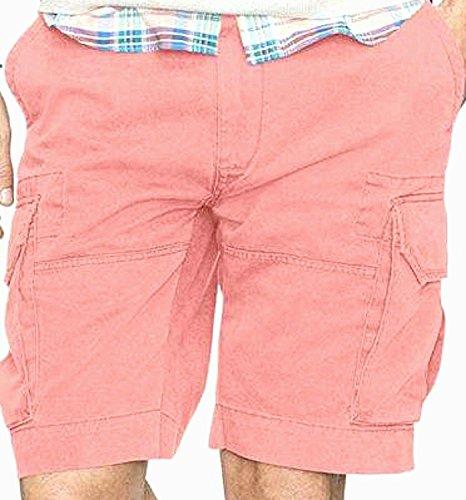 Polo Ralph Lauren Mens Big & Tall Deep Pocket Pleated Cargo Shorts (36T, Adirondack Berry) (Pleated Cargo)