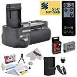 Opteka (4516B001) BG-E8 BGE8 Replacement Vertical Battery Grip for the Canon EOS Rebel T2i T3i T4i T5i 550D 600D 650D 700D Kiss X4 X5 X6 X6i X7i DSLR Digital Camera Includes 2 Extended Life Canon LP-E8 LPE8 Replacement Battery Packs (2000MAH Each 4000MAH in Total) + 1 hour AC/DC Rapid Battery Charger + Wireless Shutter Release Remote Control + Deluxe Lens Cleaning Kit + LCD Screen Potectors + Mini Tripod + 47stphoto Microfiber Cloth Photo Print !