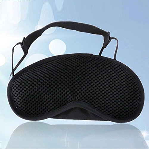 Eye Mask - Honghong Bamboo Charcoal Cotton 3D Sleeping Nap Travel Office Eye Shade Blindfold Cover - Black by Honghong (Image #1)