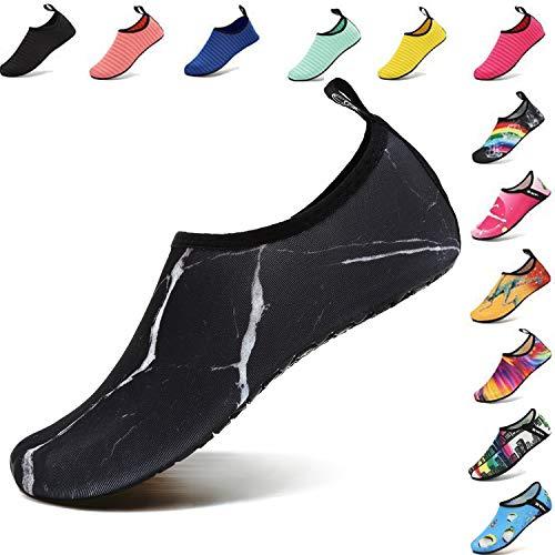 VIFUUR Water Sports Unisex/Kids Shoes Marble Black - 7.5-8.5 W US / 6-7 M US (38-39)