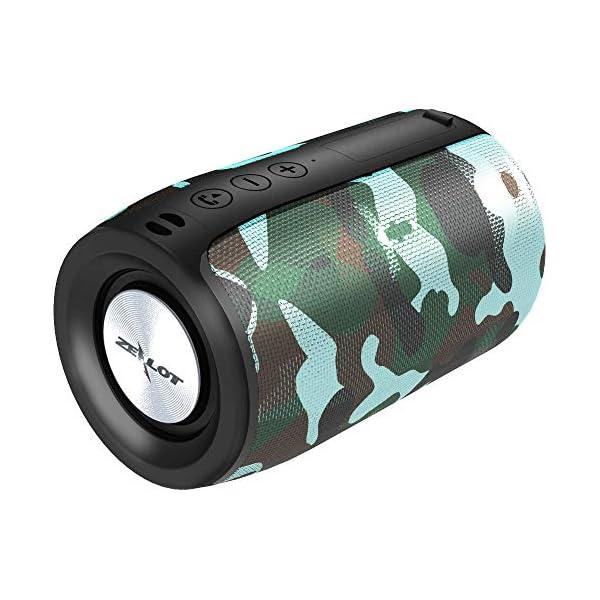 Enceinte Bluetooth Portable, Mini Haut-Parleur Bluetooth Enceinte sans Fil, avec Universel Support, Compatible Android iOS et Autres Appareils, Mains Libres Téléphone, Carte TF Support, Camouflage 1
