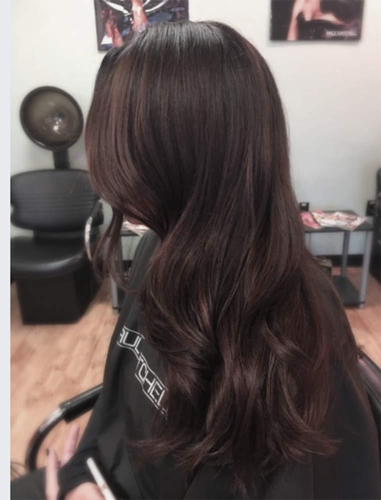 Full Shine 3/4 Half Head Clip In Remy Hair 14inch Color #2 Darkest Brown Human Clip Hair Extensions 100% Real Hair 70g Hidden Crown Hair Extensions One Piece Clip Hair