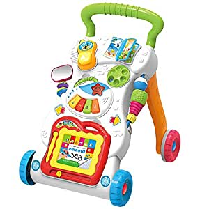 Andador Empuje educativa bebé de la música Walker Rollover ...