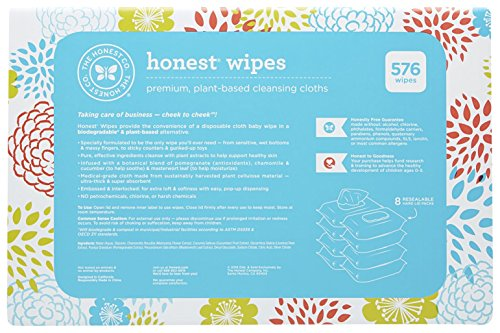 Honest Wipes 72 Count Pack Of 8 Wipes Amp Refills