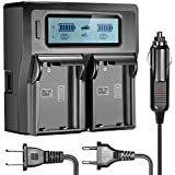 Neewer Dual LCD Battery Charger for Nikon EN-EL15 Batteries Compatible With Nikon D800 D800E D610 D700 D7200 D7000(US Plug + EU Plug + Car Charger Adapter)