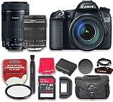Canon EOS 70D 20.2 MP AF Full HD 1080p DSLR Camera & EF-S 18-135mm f/3.5-5.6 IS STM + EF-S 55-250mm F4-5.6 IS STM with 32GB Pro Speed Class 10 Memory Card + Commander UV Filter - International Version