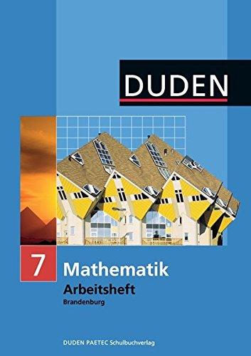 Duden Mathematik - Sekundarstufe I - Brandenburg: 7. Schuljahr - Arbeitsheft