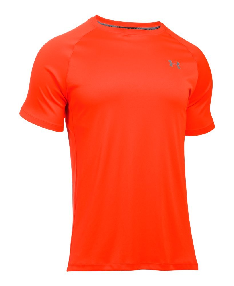 Under Armour Men's HeatGear Run Short Sleeve T-Shirt X-Large Phoenix FIRE by Under Armour (Image #4)