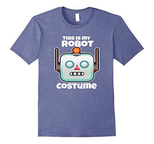 Mens Robot Halloween Costume Shirt For Adults Kids Love Robotics XL Heather Blue