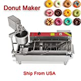 Automatic Donut Making Machine - DENSHINE Commercial Electric Doughnut Donut Maker 3 Sizes Moulds Auto Donuts, Molding, Frying, Turning, Collecting Machine Automatic Temperature Control(7L)