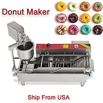 Remarkable Amazon Com Ridgeyard Stainless Steel Commercial Donut Maker 3Kw Wiring Cloud Peadfoxcilixyz
