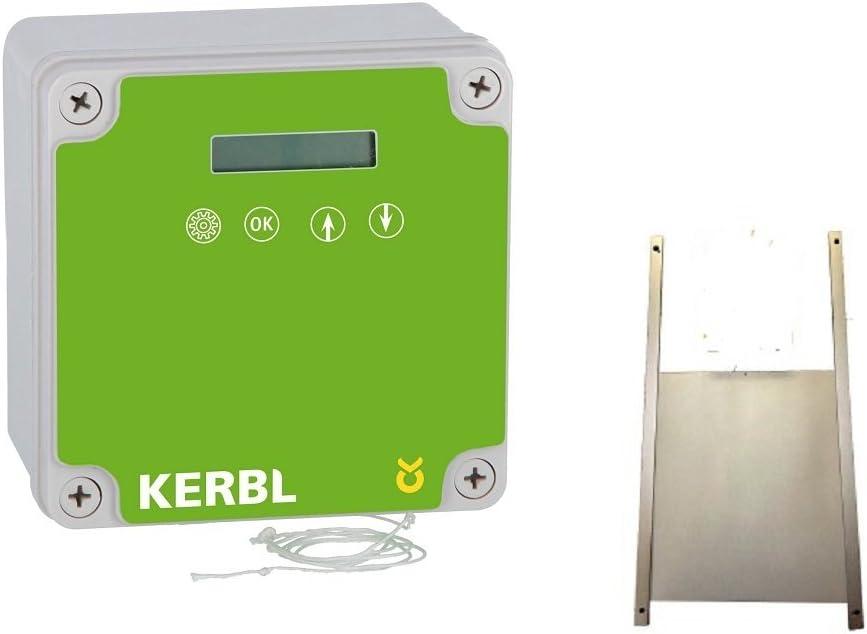 BTV Kerbel Tapa electrónica para gallinero con Tapa de Aluminio (50 x 50 cm): Amazon.es: Productos para mascotas