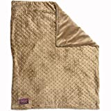 Creature Commforts Weighted Blanket for kids and seniors, 4 lbs – Soothes and provides security, Calming Heavy Throw, Includes Removable Duvet Cover, Small, 25 x 30 (Tan)