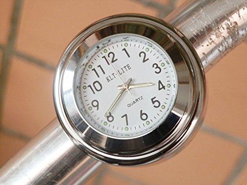 7-8-1-motorcycle-handlebar-clock-mount-w-white-harley-softail-dyna-sportster-suzuki-gsxr-600-750-100