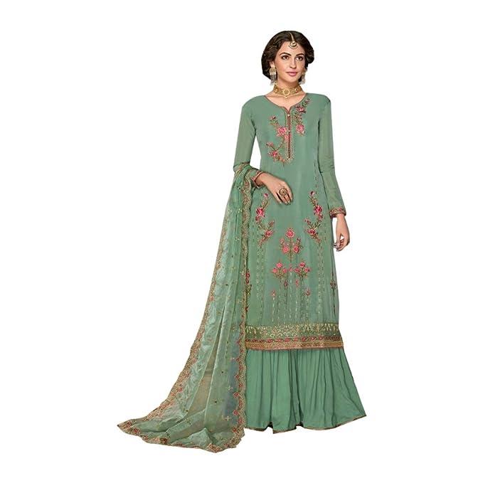 Amazon.com: Bañador de estilo Bollywood con bordado elegante ...