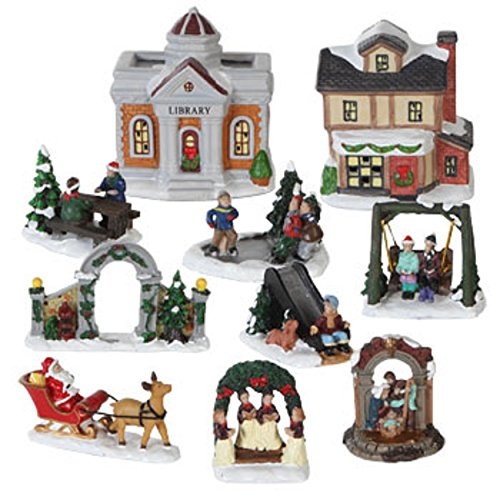 2015 61 pc cobblestone corners christmas village box set gazebo santa workshop buy online in oman kitchen products in oman see prices