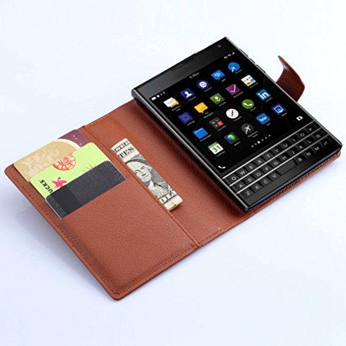 Funda Libro para BlackBerry PASSPORT Q30,Manyip Suave PU Leather Cuero Con Flip Cover, Cierre Magnético, Función de Soporte,Billetera Case con Tapa para Tarjetas C