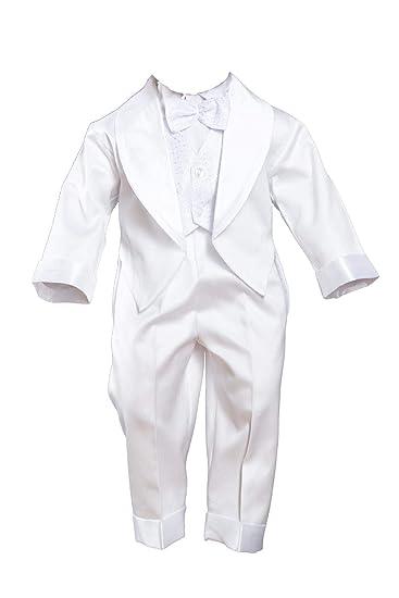 taufanzug Smoking Fijo Traje con FRAC Outfit Boda Color Blanco