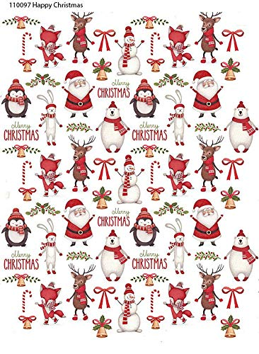 Choose Either Ceramic 22448 Waterslide Decal Enamel Decal Winter Cheer Images Enamel 3 Different Size Sheet to Choose from or Glass Fusing Decals Ceramic Decal Glass Decal
