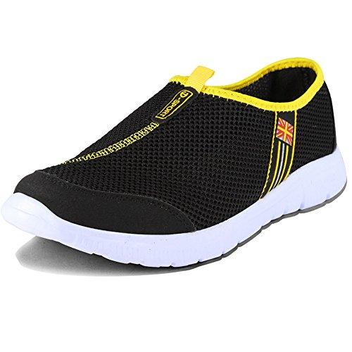 Leader Show Tm Hombres Ultra-light Fashion Ligero Atlético Beach Zapatillas De Deporte Verano Y Otoño Transpirable Sandalias Casuales Running Sports Mesh Zapatos Negro