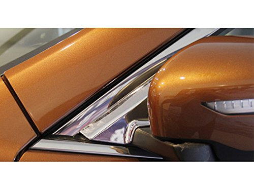 ABS Front Window Sill Triangle A Pillar Covers For Nissan Rogue 2014-2017