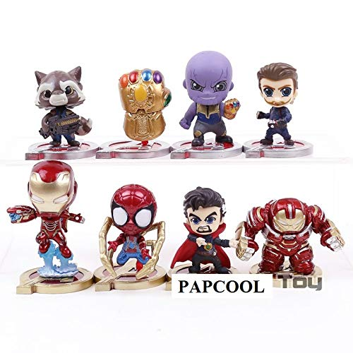 - PAPCOOL Set 8 Action Figures 2 inch Hot Toys The Legends Mini Small Toy Figure Christmas Halloween Collectible Collectibles Gift Big Large Collectable Gifts for All Little Kids Boys Girl