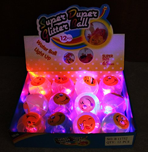 12 pcs LIGHTS UP! LED Bounce Balls Flashing Rubber Bouncy Balls for Kids B11752 ~ We Pay Your Sales Tax by We pay your sales tax