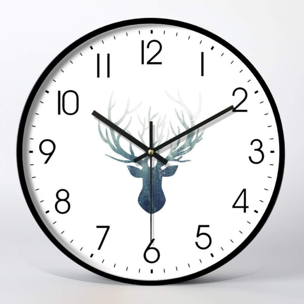 壁掛け時計16インチ/装飾時計モダンデザイン大型インチ壁掛け時計モダンスタイルガラスパネル巨大金属フレーム   B07SVLKM11