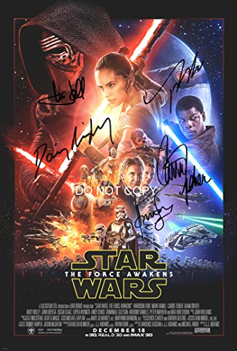 Star Wars The Force Awakens 12x18 reprint cast signed autographed movie poster #2 from Loa_Autographs