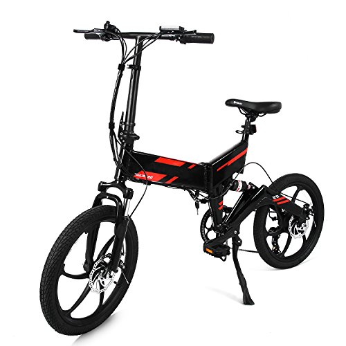 20inch Folding Mountain Bike Foldable Electric Bicycle E-Bike with Aluminum Alloy Frame and Removable Lithium Battery 36V