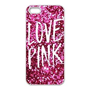 iphone5 5s case (TPU), pink Cell phone case White for iphone5 5s - FGHJ8977145