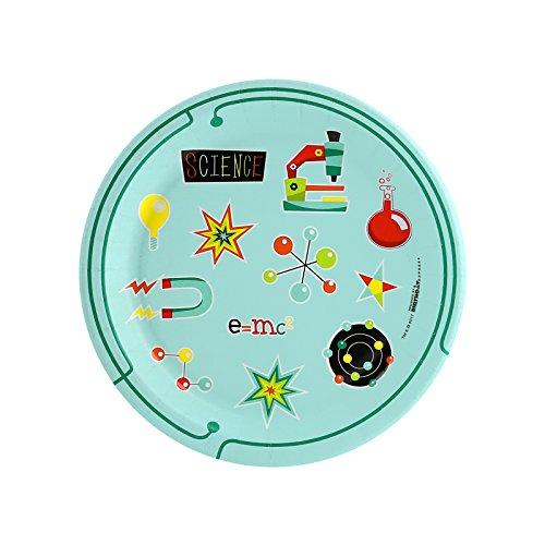 BirthdayExpress Robot Science Dessert Plates (8 Count) -