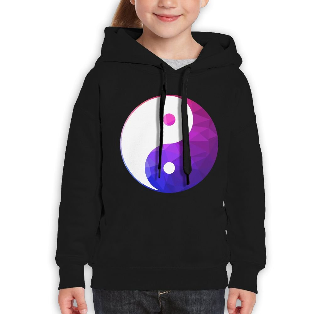 Combination Of Geometric Yin Yang Girls Boys Teens Cotton Long Sleeve Cute Sweatshirt Hoodie Unisex