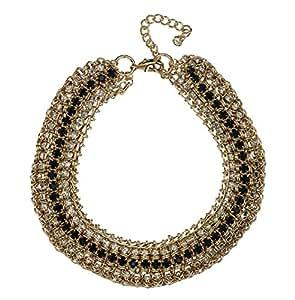 Azzaria... GunMetal 'cadena' collar de la declaración de pesada... Hematita chapado... Longitud: 48 cm