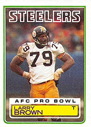 8c61059a0 Amazon.com  Football NFL 1983 Topps  359 Larry Brown  359 EX ...