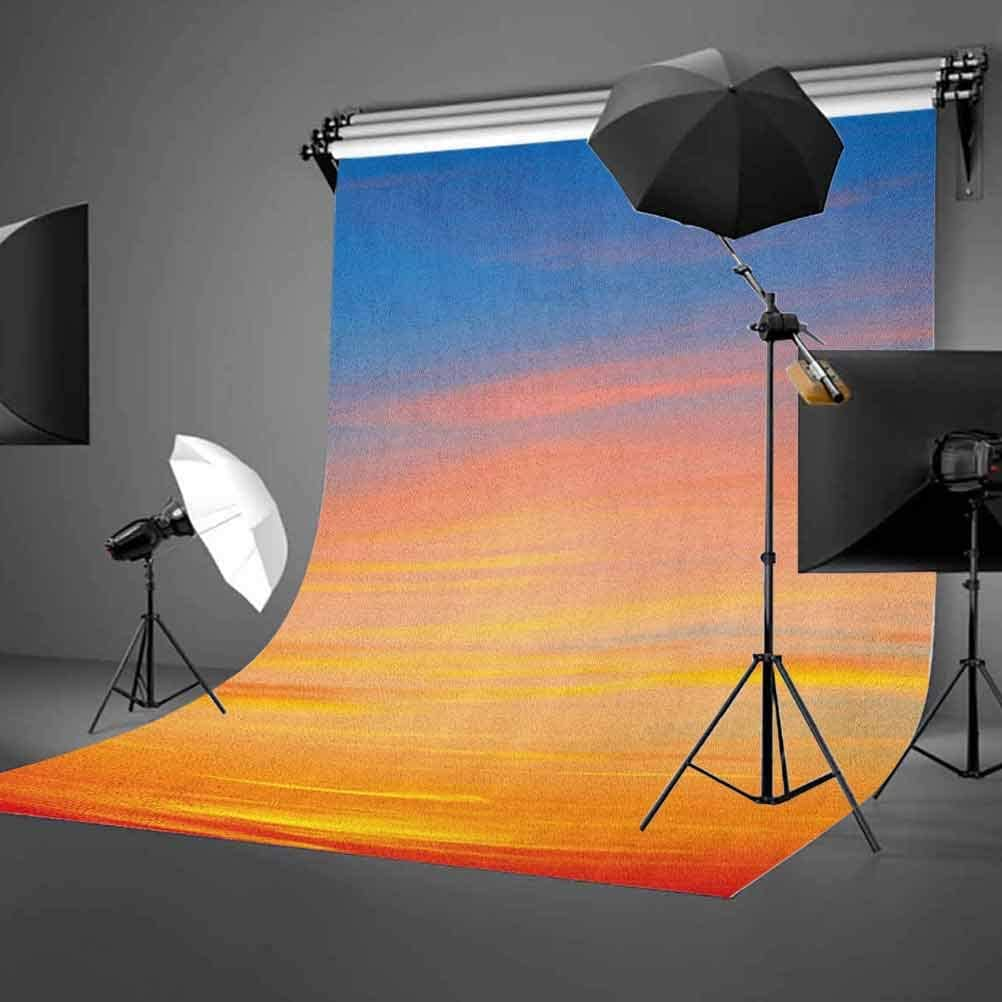 7x10 FT Sky Vinyl Photography Backdrop,Colorful Sunset Pattern Atmosphere Dramatic Majestic Scenic Skyline Photo Inspirational Background for Baby Birthday Party Wedding Studio Props Photography