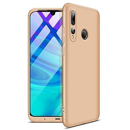 GoodcAcy Funda Huawei P Smart Plus 2019,Carcasa Móvil de Protección de 360°+ Cristal Templado HD Protector de Pantalla 3 en 1 Desmontable con Caso ...